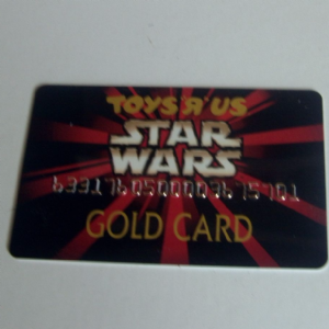 Toys R Us Star Wars Episode 1 Gold Card
